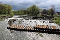 Rekonstrukce Staroměstského stupně na řece Ostravici ve Frýdku-Místku.