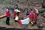 Zásah záchranářů v Beskydech.