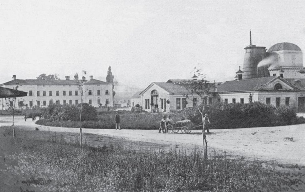 Třinecká huť na snímku z roku 1864.