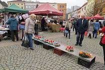 Beskydské farmářské trhy ve Frýdku-Místku.