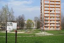 Třinecké sídliště Terasa. V tomto místě má stát bytový dům.