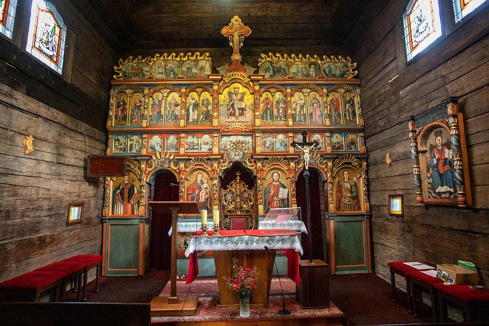 Dřevěný kostelík sv. Prokopa a Barbory, 12. července 2020 v Kunčicích pod Ondřejníkem.