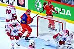 Oceláři (v červeném) přehráli doma Minsk a poskočili v tabulce na druhé místo.