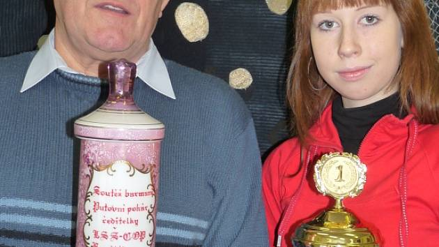 Trenér Petr Casadio s vítězkou soutěže barmanů Pavlou Szkokanovou.