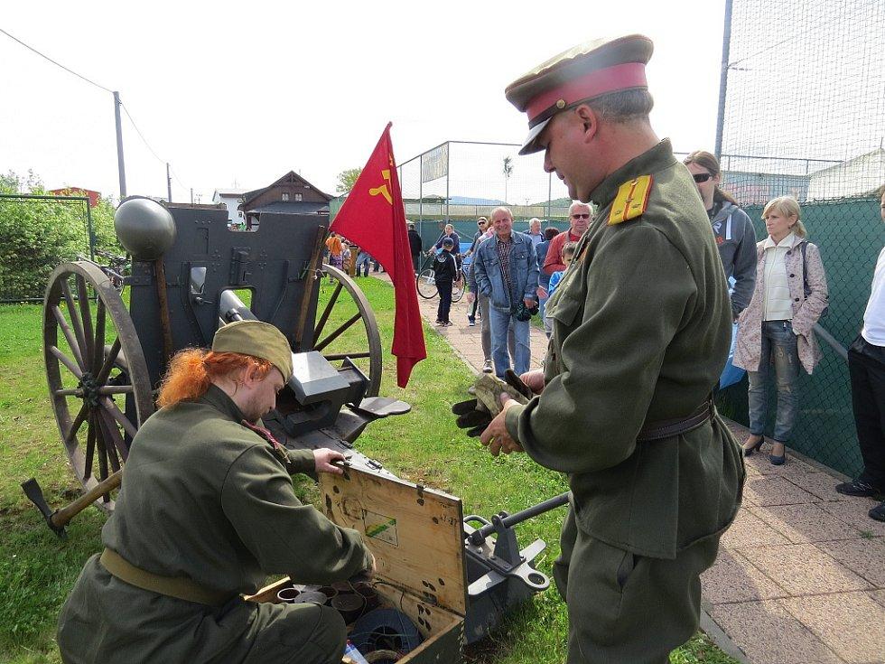 Oslavy 70. výročí konce druhé světové války v Dobré.