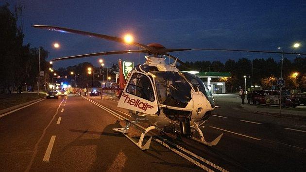 Dopravní nehoda přímo ve Frýdku-Místku, kdy došlo ke střetu osobního automobilu scyklistou.