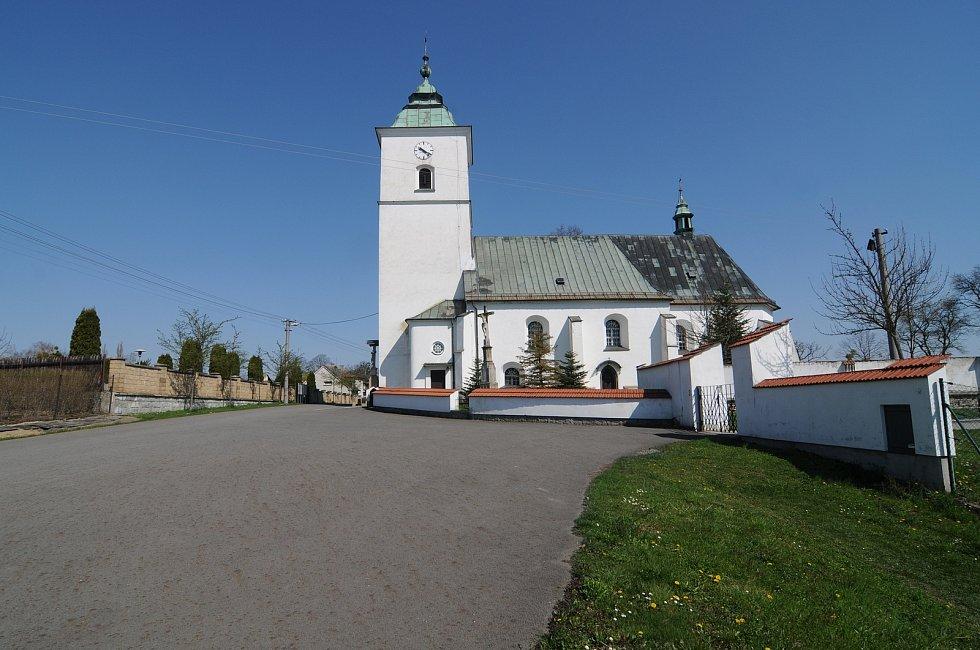 Kostel Nanebevzetí Panny Marie ve Fryčovicích.