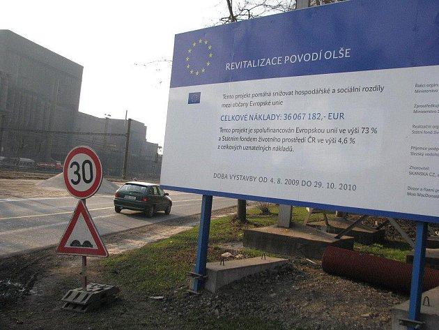 Revitalizace Olše, Nádražní ulice v Třinci.
