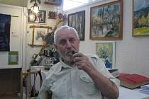 Tvrdit o Janu Satinovi z Ostravice, že je malířem, může být zavádějící. Kromě malování je také řezbářem, hudebníkem a známý je rovněž jako organizátor Výstavy zájmové umělecké činnosti v Beskydech, z níž pochází i tento snímek.