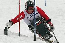 Finále světového poháru v Artesině - Itálie - závod ve slalomu speciál, březen 2006 (těsně před paralympiádou v Turíně).