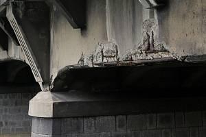 Most v havarijním stavu - Ilustrační foto.