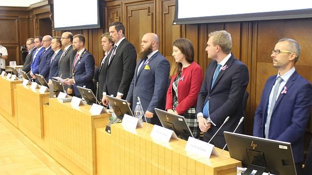 Členové nově zvolené městské rady.