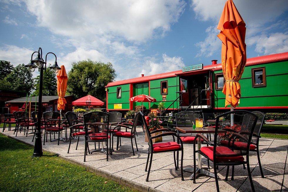 Vagón cafe bar, 29. července 2020 ve Frýdku-Místku.