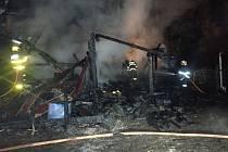 Zásah hasičů u požáru v Písku.