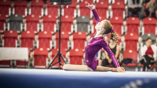 Gymnastka na žíněnkách