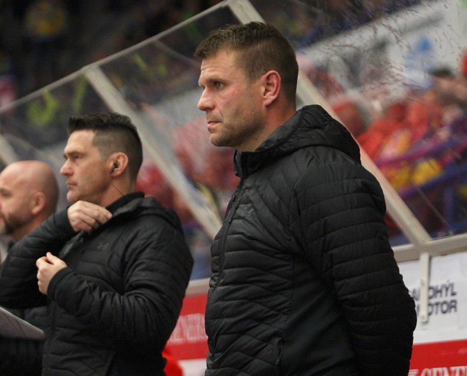 Extraligoví hokejisté PSG Berani Zlín v pátek v 9. kole na svém zimákz vyzvali úřadujícího mistra z Třince. Na snímku Varaďa.