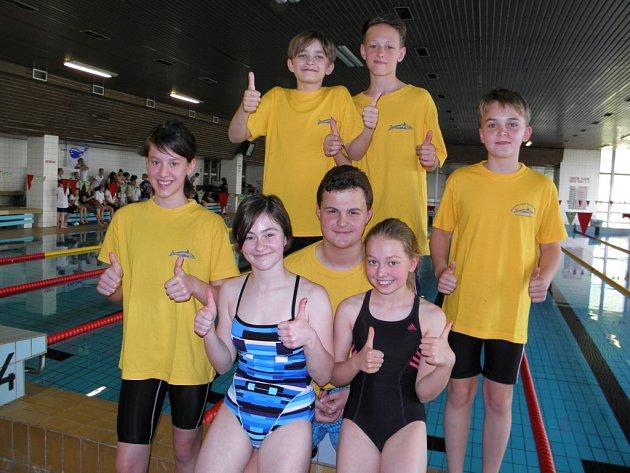 Mladí plavci z PO Frýdek-Místek v Karviné.