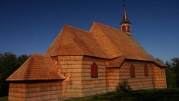 Kostel sv. Antonína na Prašivé.