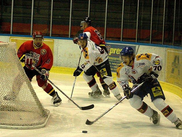 Snímky z utkání HC Bobři Valašské Meziříčí – HC Frýdek-Místek.