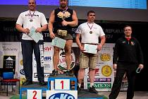 Jan Žvak z paskovského oddílu byl na MČR v Trutnově v kategorii do 125 kg nejlepší.