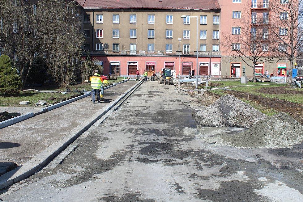 """Rekonstrukce """"malé"""" Jablunkovské ulice v Třinci."""