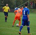 Derby mezi Dobraticemi (v modrém) a Dobrou nabídlo pět branek.