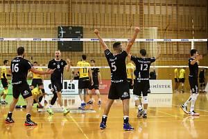 Utkání 1. kola volejbalové extraligy mužů: Beskydy - Brno, 5. října 2019 ve Frýdku-Místku.