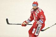 Utkání 2. kola hokejové extraligy: HC Oceláři Třinec - HC Plzeň (10. září 2017), Martin Růžička z Třince.