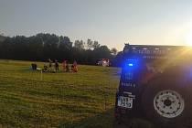 Zásah u zraněného paraglidisty v Beskydech.