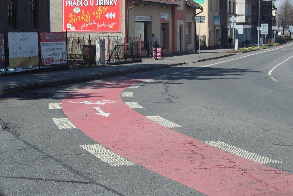 Cyklotrasy na třineckých silnicích.