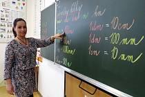 Učitelka Lubomíra Špilová.