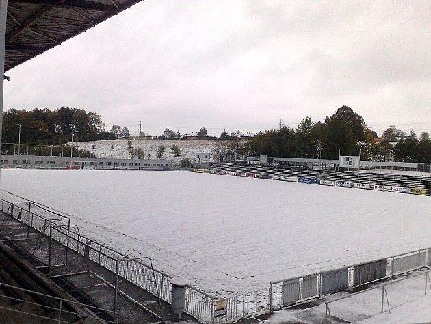 Fotbalové hřiště ve Frýdku-Místku.
