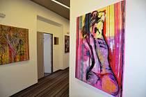 Obrazy Jitky Krawczykové jsou k vidění v radniční minigalerii.