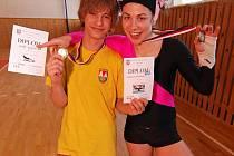 Mezi medailisty byli i frýdecko-místečtí gymnasté Aleš Bílek (vlevo) a Kateřina Kouláková.