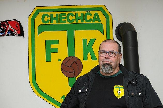 Předseda TJ Tošanovice Tomáš Bělík.