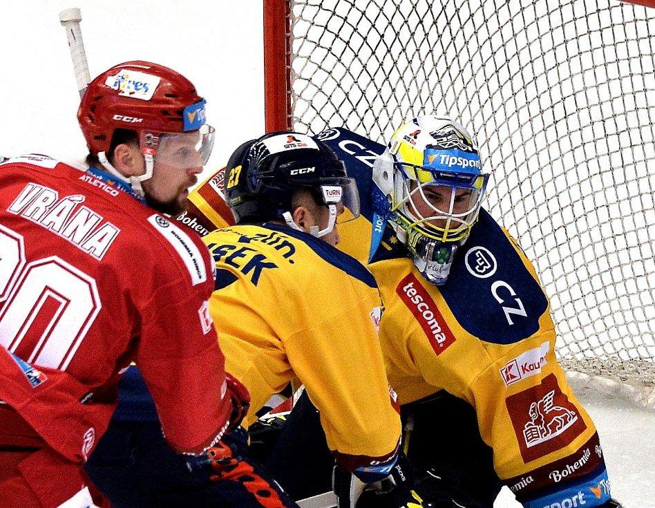 Hokejisté Třince v utkání 18. kola extraligy proti Zlínu.