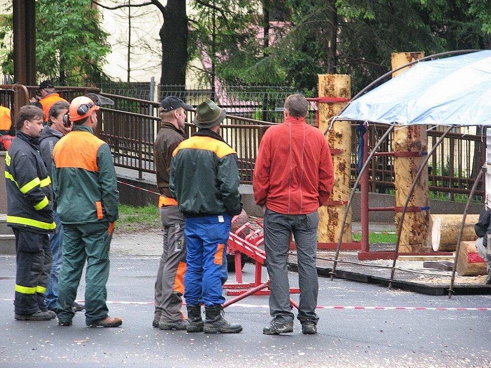 V areálu místního parku ve Vendryni se v sobotu 28. května konala akce Mezinárodní soutěž Slezský dřevorubec 2011.