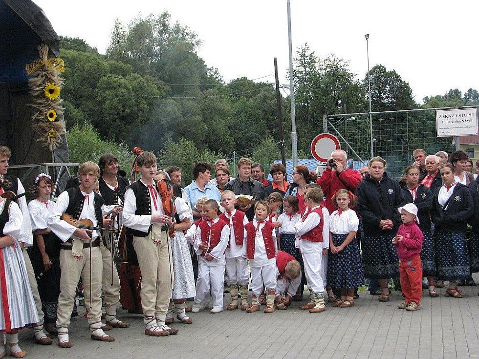 Dožínkové veselí zavládlo v sobotu 5. září v Návsí.