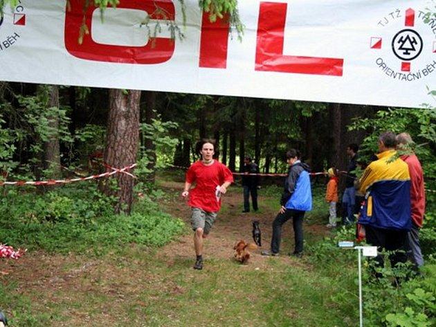 Tomáš Volný v cíli závodu.