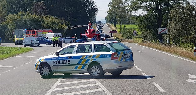 Nehoda uHorních Tošanovic.