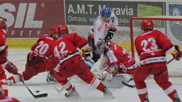 Hokejová Extraliga Juniorů-Play Off HC Vítkovice HC Oceláři Třinec.