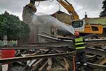 Demolice staré hasičské zbrojnice.