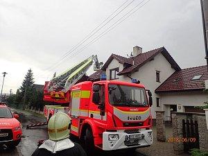 Sobotní zásahy hasičů kvůli bouřkám