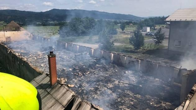 Požár v Milíkově.