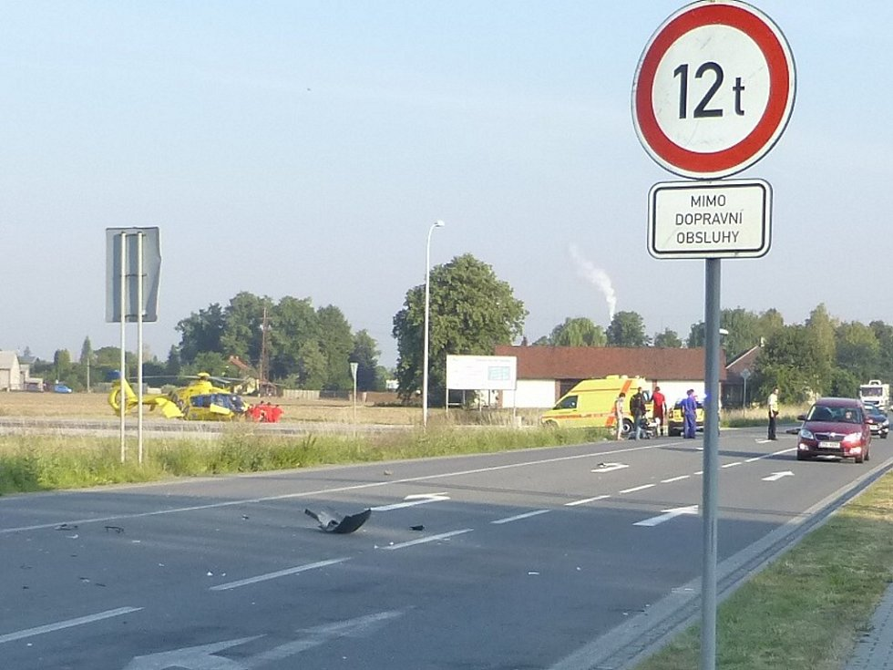 Nehoda motocyklisty ve Sviadnově.