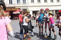 Na náměstí Svobody ve Frýdku-Místku proběhla v úterý 17. srpna akce v rámci Prázdniny ve městě. Jezdilo se na in-line bruslích, kde všichni účastníci obdrželi malé dárečky.