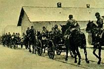 Brzy ráno 15. března 1939. Fotografie pochází z dobového tisku.