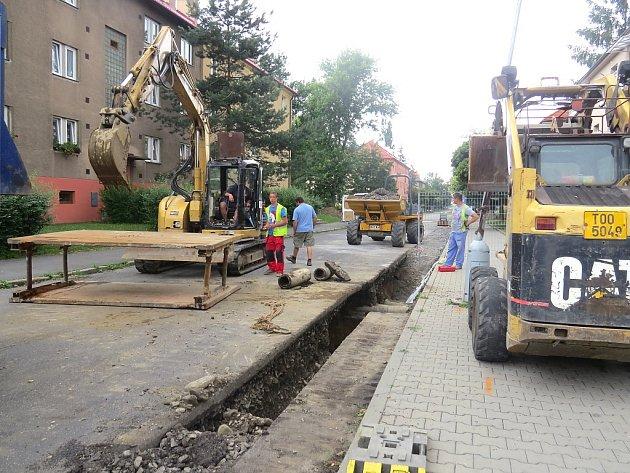 Rekonstrukce inženýrských sítí.