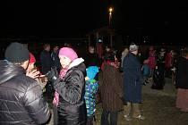 Oslavy nového roku ve Vendryni proběhly v parčíku na Čornovském.