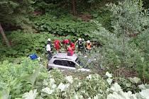 Záchranáři zasahovali v sobotu 29. června u vážné dopravní nehody ve Starých Hamrech na Frýdecko-Místecku.